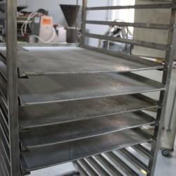 Tavi panificatie/patiserie aluminiu perforate 580mm x780mm